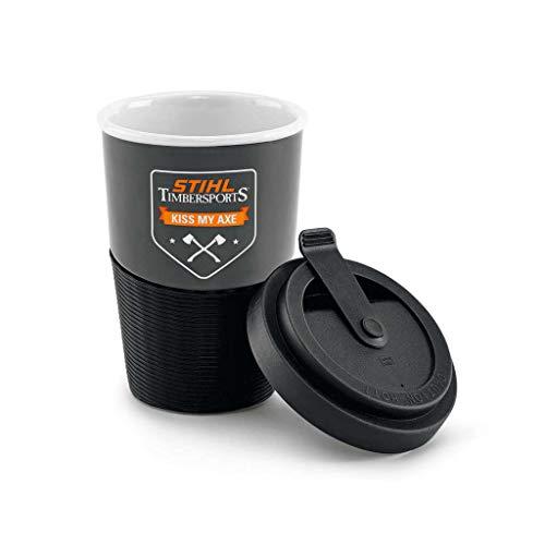 Stihl Unisex– Erwachsene Coffee-to-go-Becher Porzellan 0,3 l, Weiß, 0,3l