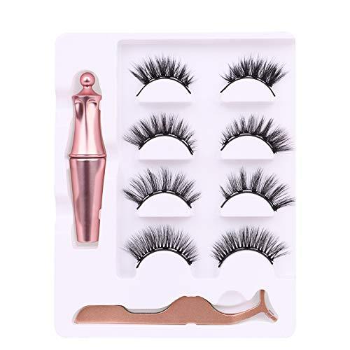 Magnetische Wimpern,Magnetic Eyeliner,3D Langlebiger Eyeliner Set Wiederverwendbare 5...