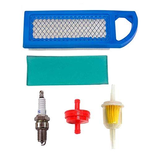 AISEN Pack of Luftfilter mit Zündkerze für Briggs & Stratton 697015 697153 697014 697014 697634 698083 795115 797008 Oregon 30-122 Craftsman 33425 Gy20573 M149171 Benzinfilter 298090