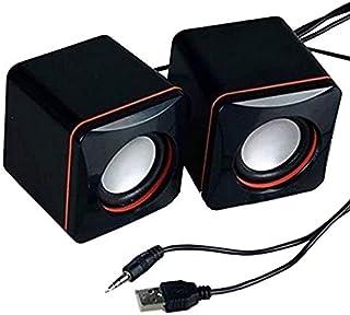 zyr Mini Altavoz estéreo portátil USB Audio Jack Altavoz de computadora de Escritorio portátil