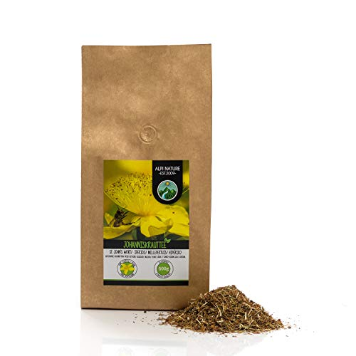 Hipérico (500g), té de hierba de San Juan, corte, secado suavemente, 100% puros y naturales del té, hierbas