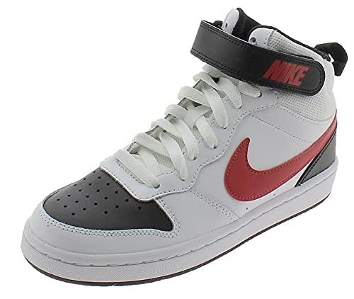 Nike Scarpe Sportive Court Borough Mid 2 CD7782110 Bambino Bianche Bianco 36 EU