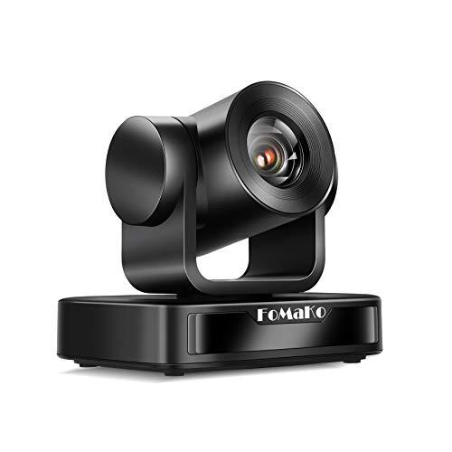FoMaKo 10X Zoom HD 1080P Sistema de videoconferencia de alta definición, cámara de la sala de conferencias USB PTZ FMK102U