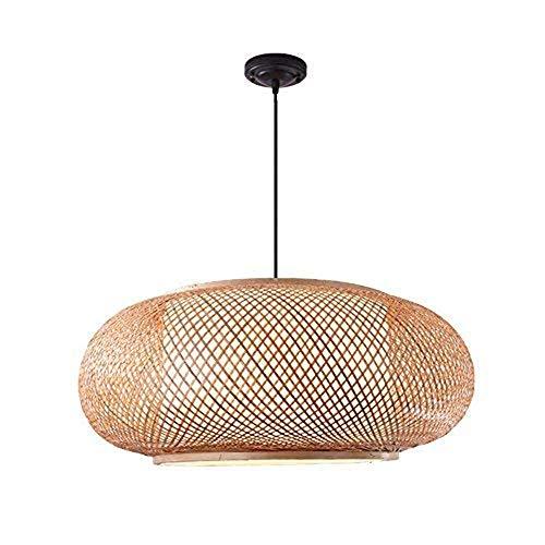 Bamboe DIY Wicker Rotan Shade Weave hanglamp lantaarn ronde bamboe lamp (grootte: 4020)
