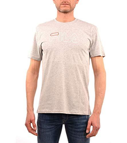 Fila Paul Tee Up T-Shirt, Grigio (Light Grey Melange B13), Medium Uomo