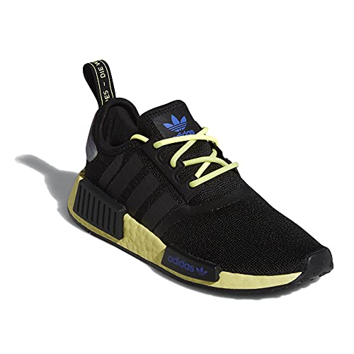 adidas Originals Unisex-Child NMD_r1 Sneaker (Core Black/Pulse Yellow/Sonic Ink, Numeric_6_Point_5)