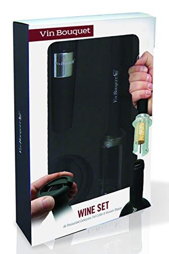 Vinbouquet sacacorchos de Aire FI 010 Set Descorchador, Acero Inoxidable, centimeters