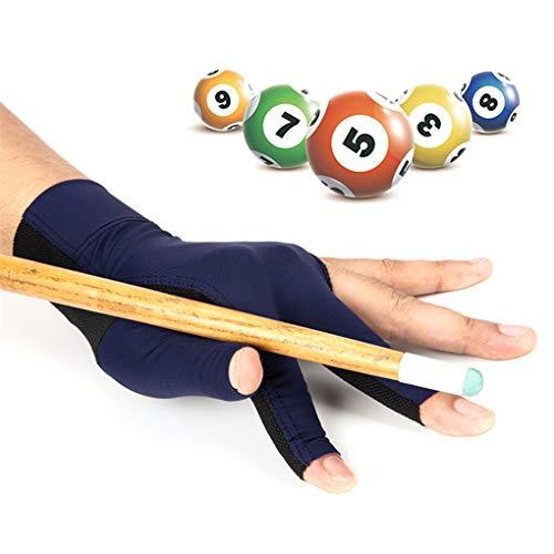 Holiberty Billiard Gloves for Women Men Left Hand, Elastic Spandex 3 Fingers Show Glove Breathable Non-Slip Snooker Cue Pool Gloves Professional Billiard Glove Sport Shooters Carom Gloves