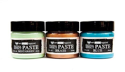 Prima Marketing Patina Effekt Paste, Mint grün, blau, Messing 1,7FL OZ je