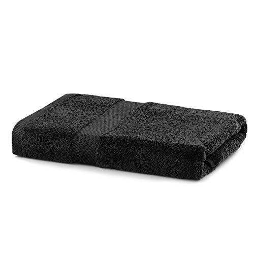 DecoKing Toalla de baño 70 x 140 cm, algodón de calidad, 525 g/m², absorbente, color negro