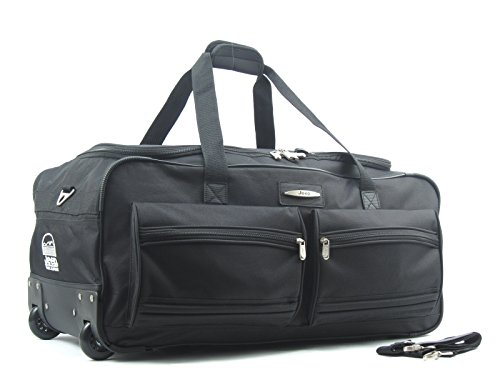 Adults Jeep Extra Large Wheeled holdall 31 Inch[Black]