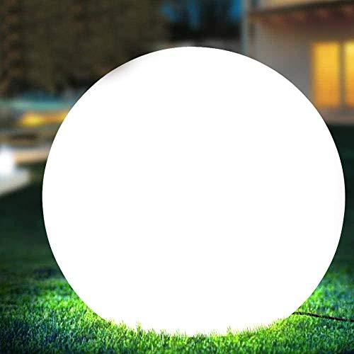 Bakaji Lampada Design Sfera da Giardino Diametro 50 cm Luce Illuminazione Esterno da Terra o Tavolo Attacco E27 Lampadina Max 25W Colore Bianco con Picchetti di Fissaggio al Terreno (50 cm)