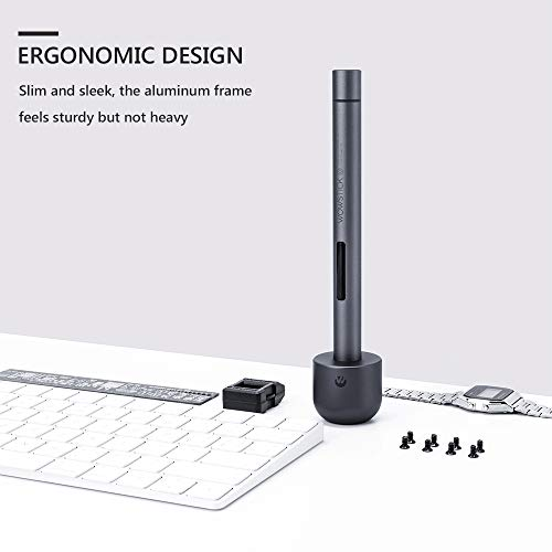 wowstick Lithium Precision Screwdriver wowstick 1F+ With LED Light And Magnetic Mat, Electric Screwdriver Rechargeable Repair Tool kits Including 56 Bits Extend Bar For Most Electronics Devices