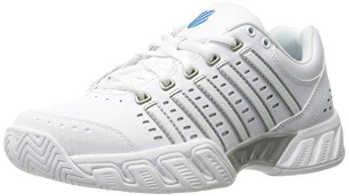 K-Swiss Bigshot Light LTHR, Zapatillas de Tenis Hombre, Blanco/Azul/Gris, 39.5 EU