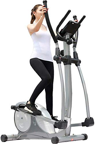 GJJSZ Elliptical Cross Trainer Elliptical Trainer And Exercise Bike With Seat And Easy Computer Home Office Fitness Workout Machine Indoor Home Fitness Cardio Workout Machine
