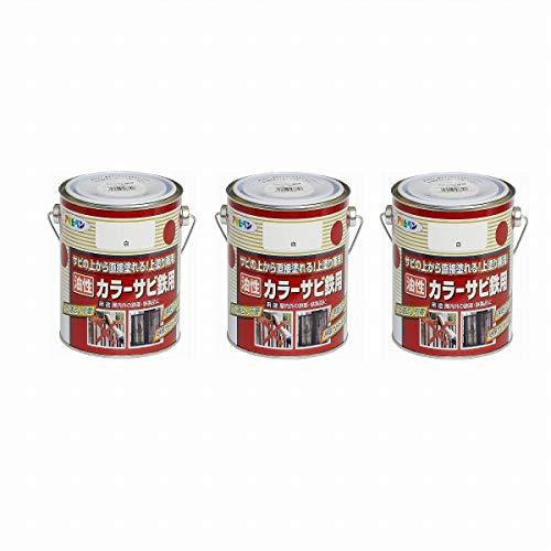 アサヒペン カラーサビ鉄用 0.7L 白 【まとめ買い3缶セット】