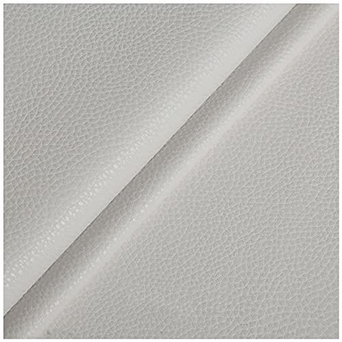 NIUFHW Cuero sintético sintético piel sintética blanco PU 1.38m* 1m decoración sofá tapicería tela DIY artesanía artesanía tela por la yarda