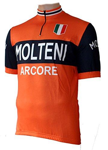 Skaide Maillot de ciclismo Molteni Arcore Retro, tallas S hasta 6XL (5XL)
