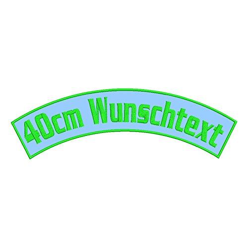 Wolfszeit Wunschtextaufnäher oberer Bogen B2 - viele Größen & Farben (40x12,5) - Personalisiert