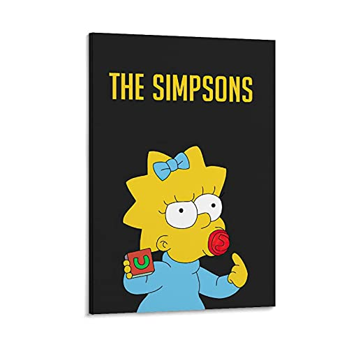 JNHGF The Simpsons Anime Characters Maggie Aesthetic Wall Art Decor Poster Decorative Painting Canvas Wall Art Living Room Posters Bedroom Painting 08x12inch(20x30cm)