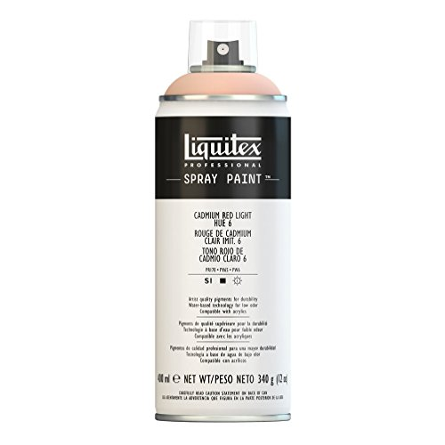 Liquitex Professional - Acrílico en spray, 400ml, rojo de cadmio claro (imit.) 6