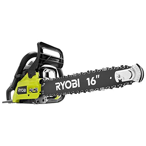 Ryobi 16 inch 37cc 2-Cycle Gas Chainsaw with Anti-Vibration Handle and Heavy-Duty...