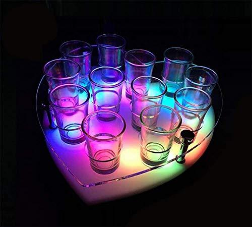 HYDDG Forma de corazón RGB LED Luz de la Base de la Caja de jarrón para los jarrones de casa Decoración de la Mesa y la Fiesta