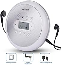 Portable CD Player Personal Compact Disc Player with LCD Display Stereo Headphones and USB Charging Cable Anti-Skip/Shockproof Protection Small Music CD Walkman Players for Car and Home