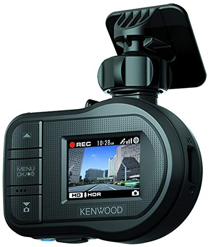 Kenwood DRV-430 Full HD Dash Cam with Integrated GPS and Driving Assistance System Black Logo