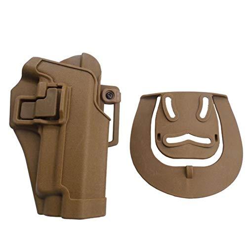 Vioaplem Ejército Militar Táctico Negro Funda For Diestros Pistola Paddle Porta-Herramientas En Forma For El P220 P226 P228 P229 Pistoleras (Color : Sand)