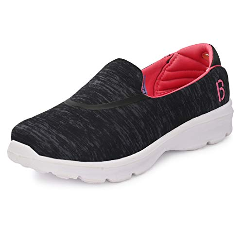 Bourge Women Micam-Z2 Black and Pink Running Shoes-4 UK (Micam-5-04)