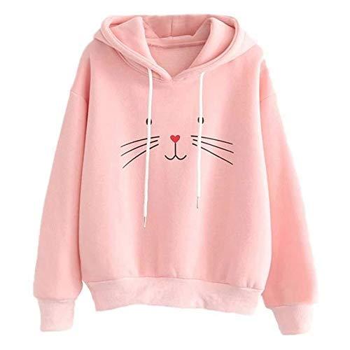 Khhalisi Women's Fleece Hooded Hoodie (2074_Pink_XX-Large)