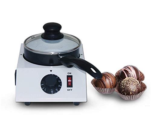 FZYE Mini fundidor de Chocolate, fundidor de Chocolate, fundidor de Fondue de Chocolate eléctrico de Acero Inoxidable, máquina para fundir Chocolate, Olla Antiadherente