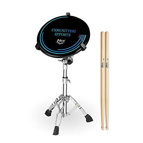 ZHXY Practice pad übungspad Schlagzeug mit verstellbaren Ständer,Drum pad Practice Drum Pad Übungspad 12