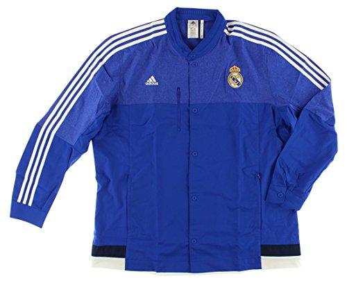 adidas Mens Real Madrid Anthem Jacket Royal Blue XXL