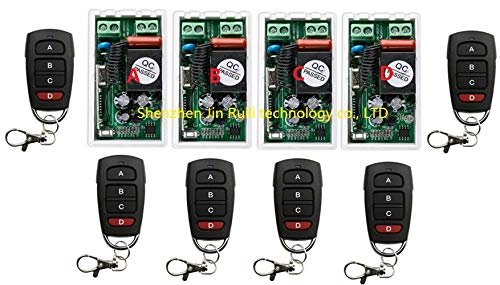 Calvas Best Price AC 220 V 1CH Wireless Remote Control Switch System 4pcs Receiver & 6pcs Transmitter 315mhz/433.92mhz+Smart home