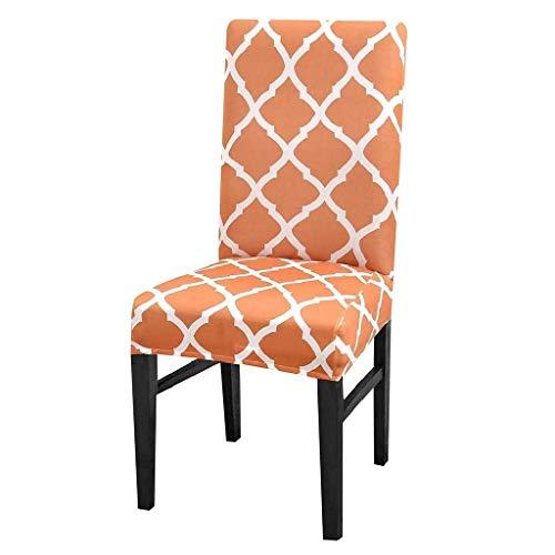 Coprisedie lavabile con schienale fantasia rombi fodera elasticizzata protettivo cucina sala pranzo casa arredamento 1 pezzo colore arancione ottima idea regalo