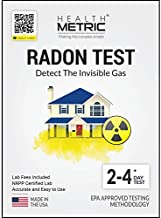 Radon Test Kit for Home - Easy to Use Charcoal Radon Gas Detector for Peace of Mind | 48-96h Short Term EPA Approved Radon Tester | Includes Lab Fees | Protect Yourself and Your Family | 1-Pack