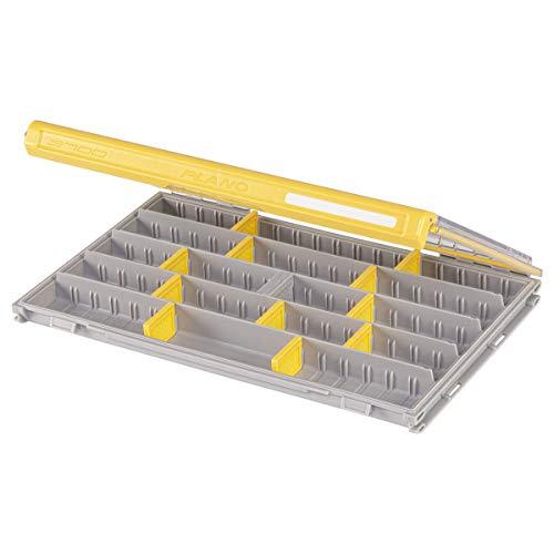 Plano Unisex-Erwachsene Edge Professional 3700 Thin Tackle Storage Aufbewahrung von Angelzubehör, Transparent/Gelb, Th