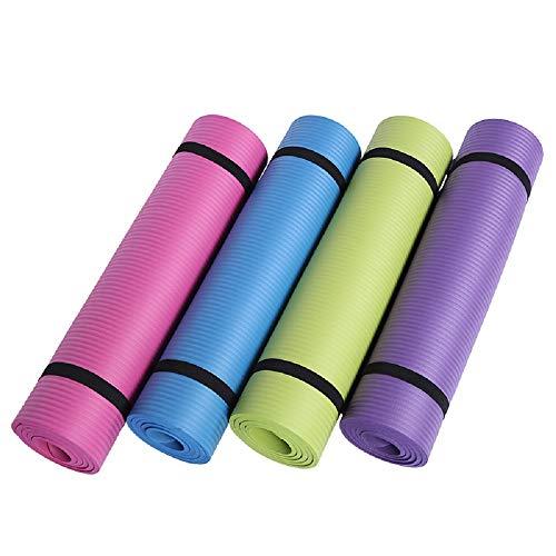 Verruimde antislip yogamat, multifunctionele sportfitness 72 × 24 inch dik 10 mm 1 stuk om riem te sturen