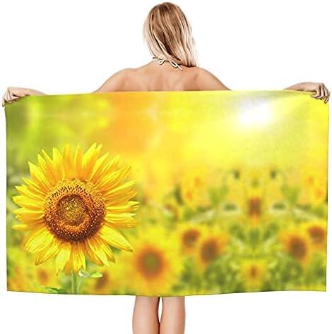 Microfiber Cheap Beach Towe Sunflower Printed Soft Towel and Quic Bargain sale Bath