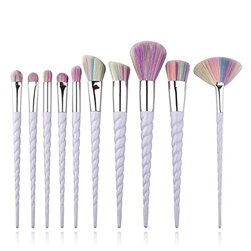 LNLW 10pcs pinceaux de maquillage Kit, Maquillage Eyeliner Up Foundation Sourcils fard à joues cosmétiques Correcteur Brosses