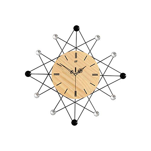 Relaxbx Creative Wall Clock, Nordic Round Quartz Wall Clock Simple Silent Not-ticking Battery Operated Home Decor For Living Room-a 50x50cm(20x20inch)