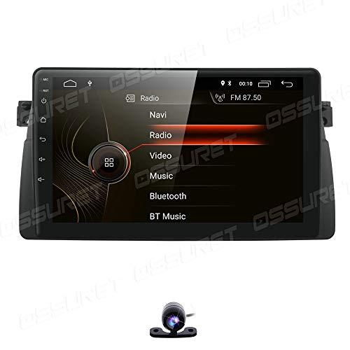 Radio para automóvil 9 Pulgadas Android 10 Reproductor de Video estéreo para automóvil GPS Can-Bus Mirrorlink Bluetooth OBD2 Pantalla táctil múltiple para BMW E46 3er 1998-2005