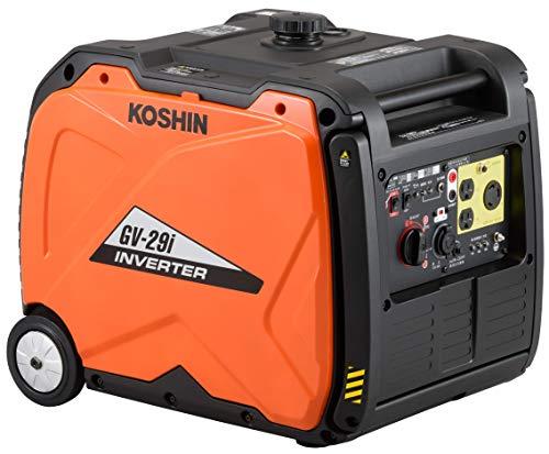 工進(KOSHIN) インバーター 正弦波 発電機 (定格出力2.9kVA) GV-29i 超低騒音型 防災用 災害用 静音 防音型 備蓄 災蓄 非常用 電源 台風 地震