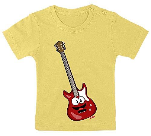 Hariz - Camiseta para bebé, diseño de guitarra eléctrica con texto en...