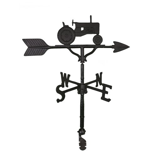 Montague Metal Products 32-Inch Weathervane with Satin Black Tractor Ornament