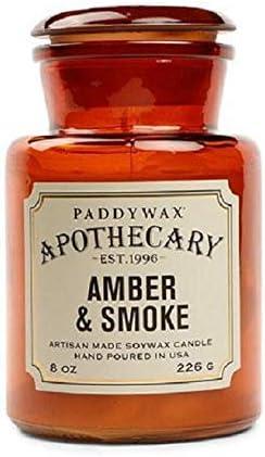 Paddywax Amber and Smoke Travel Candle 2 Ounce, Amber & Smoke, 8 oz