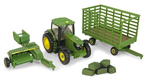 ERTL John Deere 6210R Tractor Baling Set