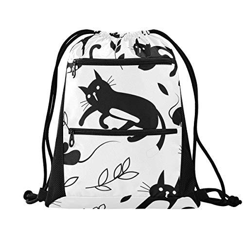 Sinestour - Bolsa de cordón para ratones de gato, ligera, para gimnasio,...